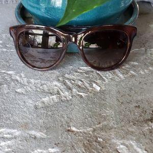 FENDI Brown Gold Sunglasses